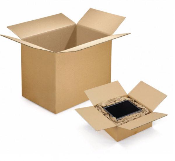 Caisse carton brune plate double cannelure