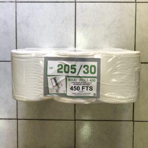 BOBINES ESSUIE-MAINS 450 FORMATS LISSES 6 ROULEAUX 16,00€