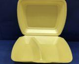 Coquilles Assiettes Polystyrène 2 Compartiments 100 Assiettes