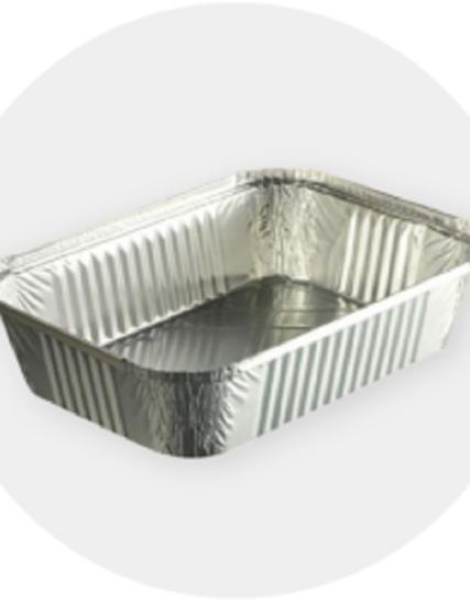 BARQUETTES ALUMINIUM 860 MLS AVEC COUVERCLES 100 BARQUETTES 18,00€tes Aluminium