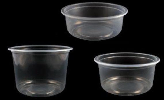 Pots Ronds en plastiques pour salades etc