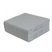 Serviettes Grises en Papiers 2 Plis 40/40 Cms 100 Serviettes