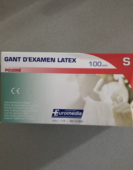 Gants Latex Euromedis Taille 6-7/Small 100 Gants
