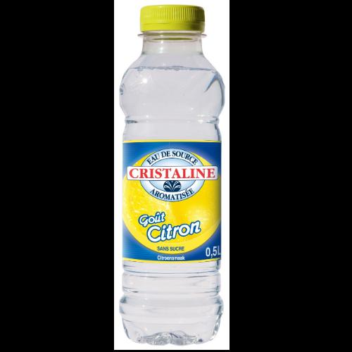Eau Cristalline Aromatisée Citron 24 Bouteilles