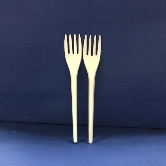 100 Fourchettes Bio en PLA Compostables 17cms 6€