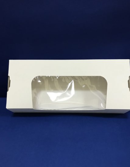 25 Boîtes Pâtisseries/Sushis Fenêtré 90x220x45mm en Cartons ST3C 4€