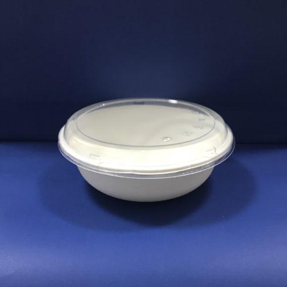 50 Saladiers Bio en Pulpe 1000ml avec Couvercles Transparents 28€