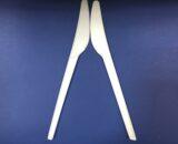 100 Couteaux Bio en PLA Compostables 17cms 6€