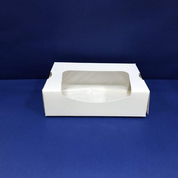 25 Boîtes Pâtisseries/Sushis Fenêtré 120x200x45mm en Cartons ST4C 4.5€