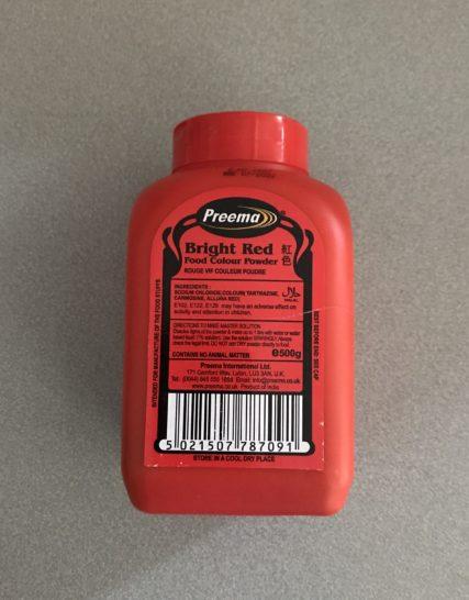 Colorant Alimentaire Rouge Preema 500 gms