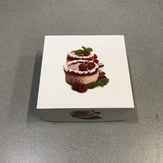 Boîtes Pâtisseries Imprimé 14x6 cm 50 Boites