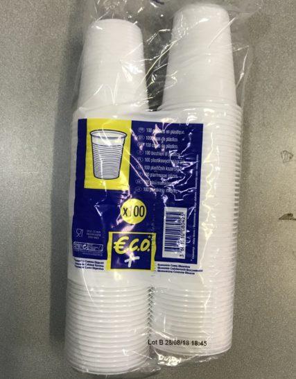 Gobelets Plastique Blancs ECO 18/20cls 3000 Gobelets