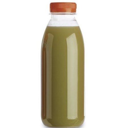 140 Bouteilles Alimentaires Jetables Transparentes PET Pour Jus Etc 50 cls/500 mls + Bouchons