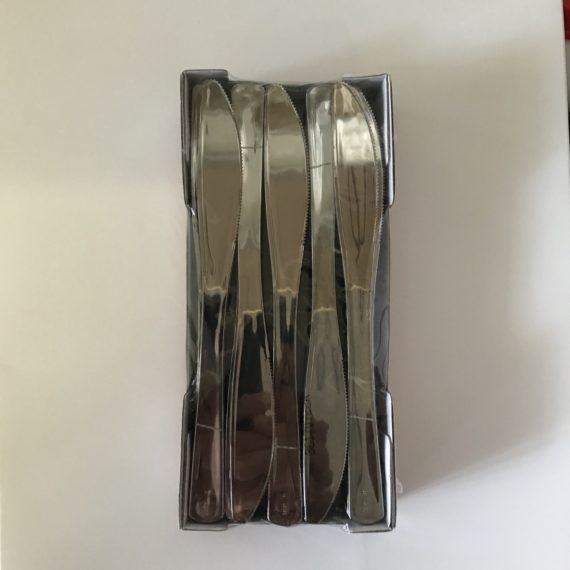 50 Couteaux Plastique Métallisé Luxes