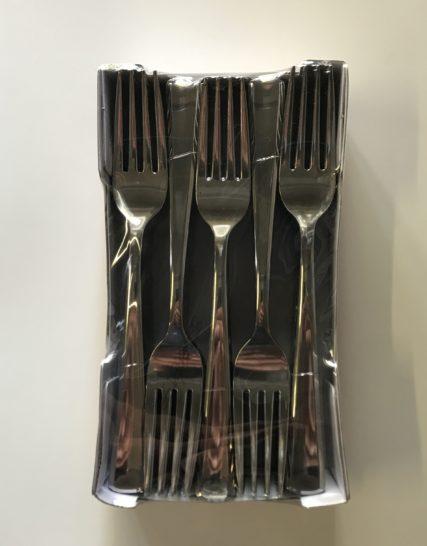 50 Fourchette Plastique Métallisé